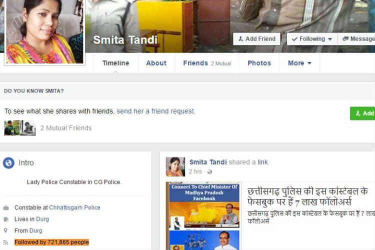Smita Tandi, Facebook