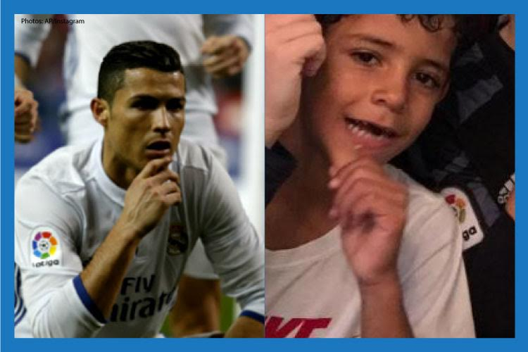 How Cristiano Ronaldo's son mimicked him for his crazy Madrid derby celebration