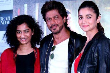 Shah Rukh Khan, Alia Bhatt and Gauri Shinde during Dear Zindagi promotions in Delhi