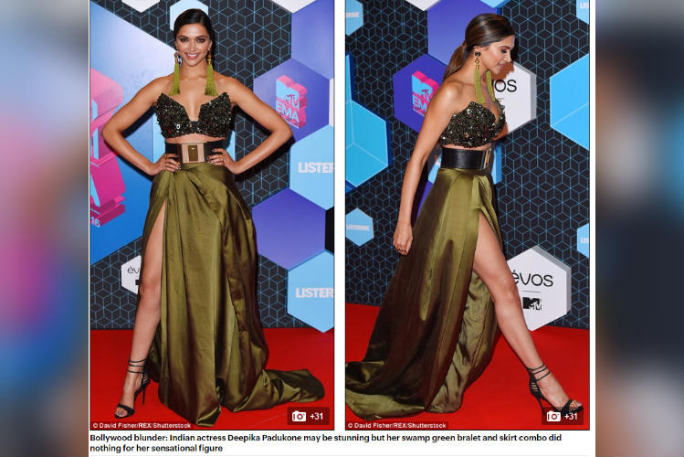 Deepika Padukone at MTV EMA Daily Mail screenshot for InUth.com