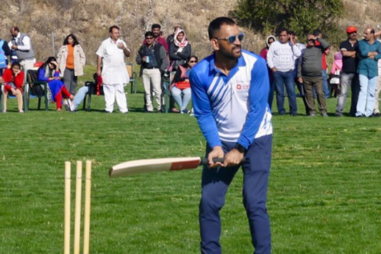 Meanwhile, MS Dhoni is playing cricket in Madrid