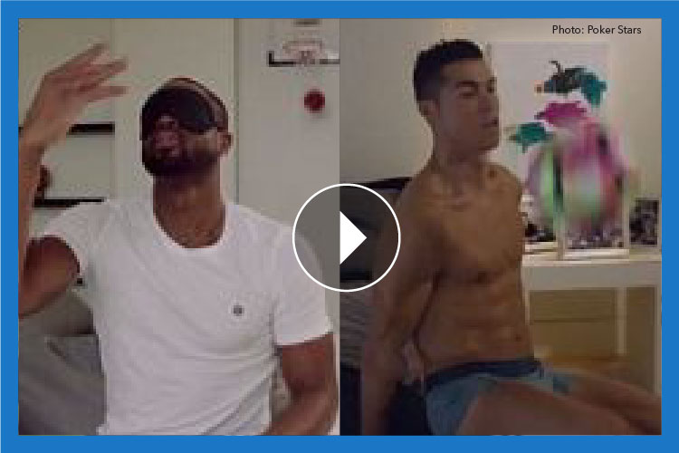 WATCH: How Dwyane Wade and Cristiano Ronaldo rocked the Poker Stars' #raiseit challenge