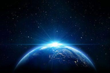 Earth, Sun, Space