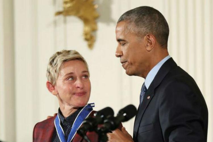 Ellen Degeneres Barack Obama Medal of Freedom   AP Image for InUth.com