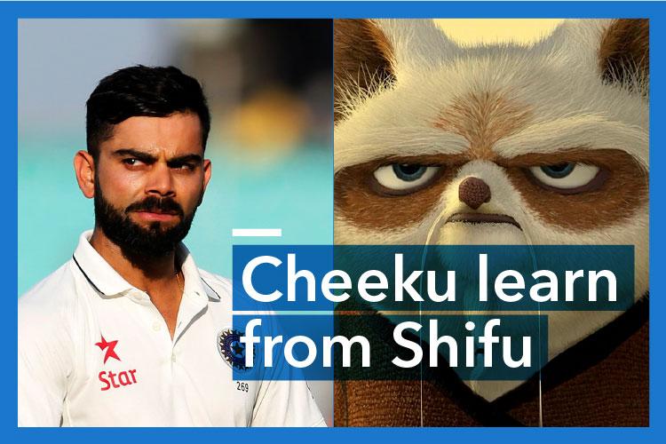 WATCH: Virat Kohli calm down. Breathe. Inner peace. Learn fromShifu