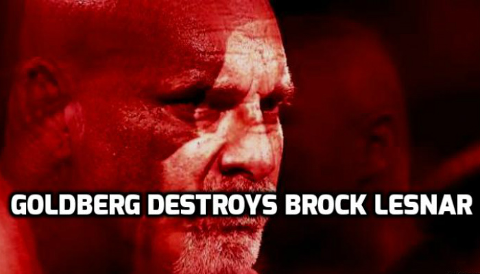 Goldberg destroys Brock Lesnar in 84 seconds at the WWE Survivor Series