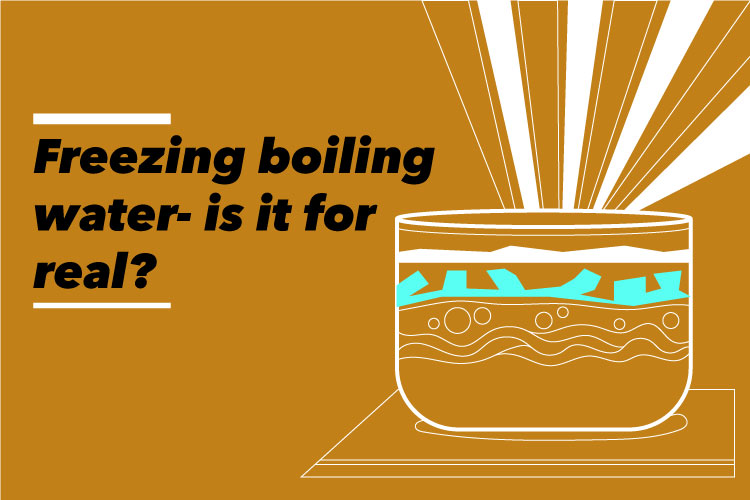 Do you know you can freeze boiling water? Here's how [watch video]