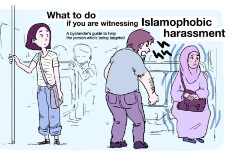 A French illustrator explains what you can do to fight Islamophobic harassment
