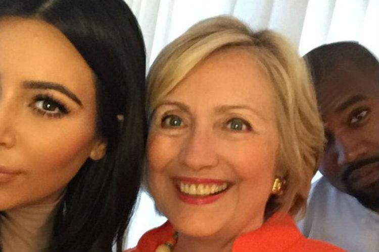 Kim Kardashian Hillary Clinton | Twitter Image For InUth.com