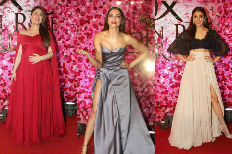 From Kareena Kapoor Khan in red to Katrina Kaif in green, these actresses sizzled the Golden Rose Awards