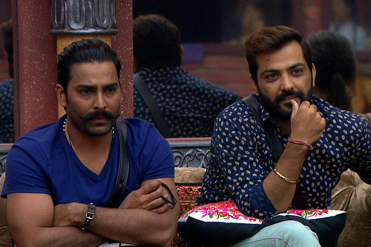Manu Punjabi and Manveer Gurjar in Bigg Boss 10 Colors TV photo for InUth.com