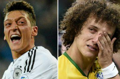 Mesut Ozil, David Luiz, Germany, Brazil, World Cup
