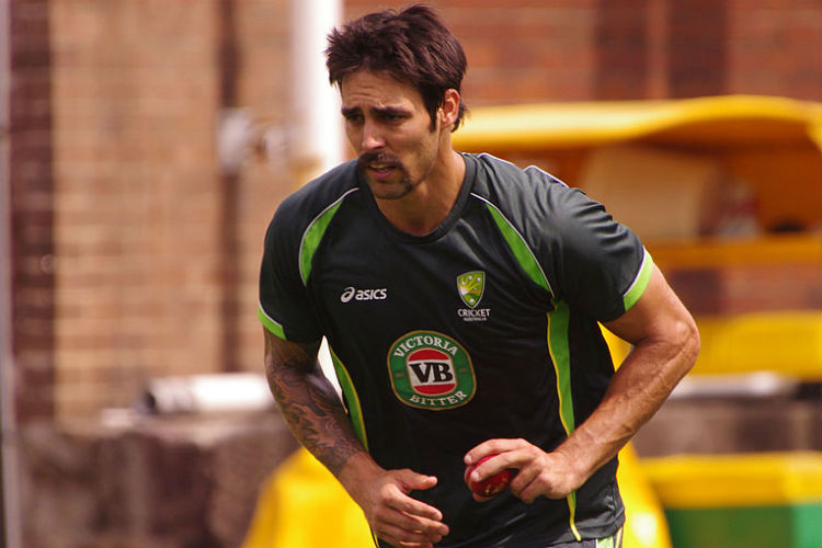 Mitchell Johnson with his horseshoe moustache (Courtesy: Wikimedia Commons/Naparazzi)