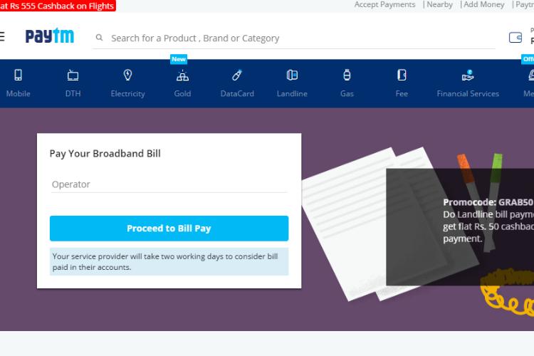 Paytm, broadband