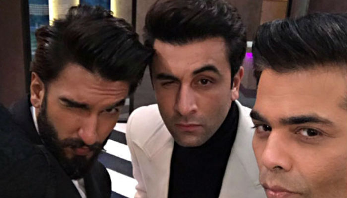 Ranveer, Ranbir, Karan (Photo: Twitter)