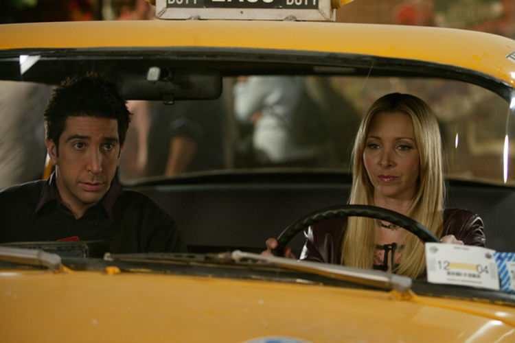 Ross Geller Phoebe Buffay Taxi Driving | YouTube Image For InUth.com