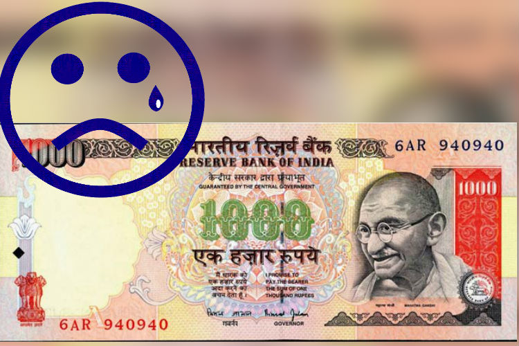 Rs 1000 note photo for InUth dot com