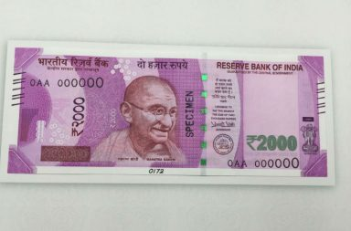Rs 2000 note, India