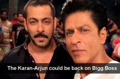 Salman Khan and Shah Rukh Khan in Bigg Boss Colors TV photo for InUth.com