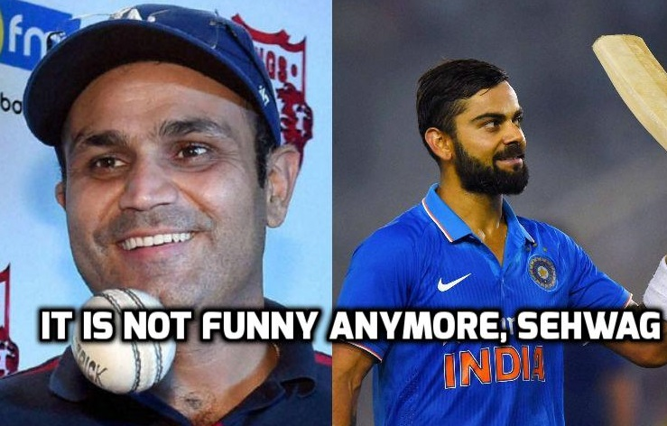 Not that funny! Sehwag compares Kohli with 'goli', 'holi', and 'ghagra choli'