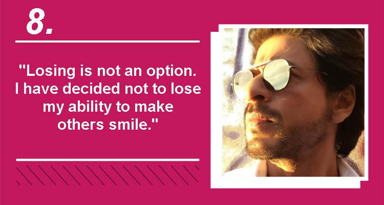 Shah Rukh Khan Instagram photo InUth quote temp