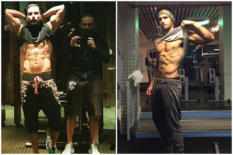 Fitness freaks Ranveer Singh and Shahid Kapoor are sweating it out for 'Padmavati' [Watch]