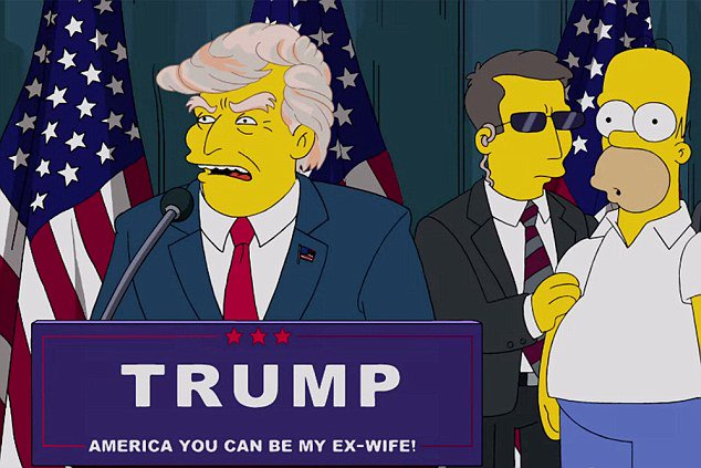 Donald Trump, Simpsons