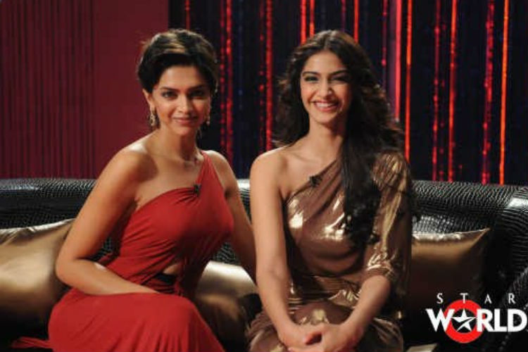 Sonam Kapoor and Deepika Padukone on Koffee With Karan YouTube photo for InUth.com