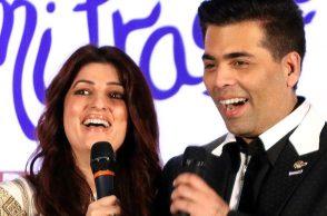 Twinkle Khanna and Karan Johar IANS photo for InUth.com