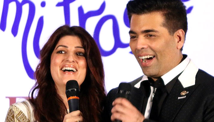 Twinkle Khanna and Karan Johar IANS photo for InUth.com