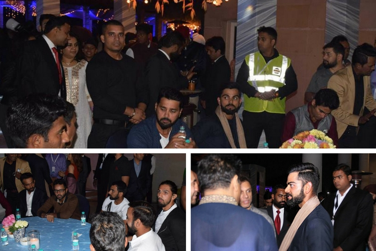 Indian cricket team players chilled out at the party after a tiring day on the field.