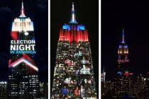 US Presidential Elections 2016: Empire State Building turns into real-time polltracker