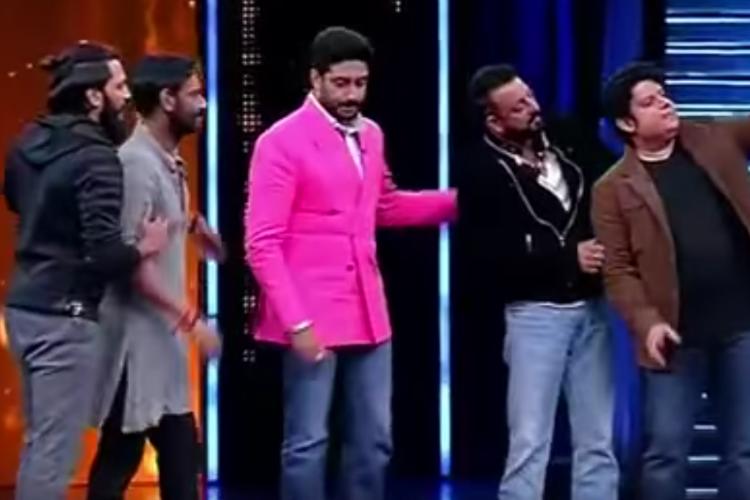 Abhishek Bachchan Ajay Devgn Sanjay Dutt Yaaron Ki Baraat: (Courtesy: Youtube)