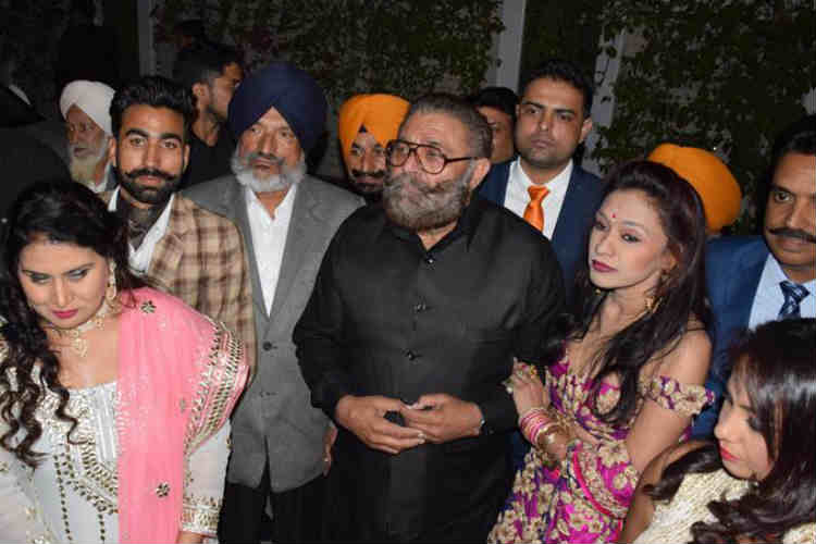 Yograj Singh at the sangeet ceremony of Yuvraj and Hazel.