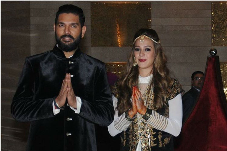 Yuvraj Singh, Hazel Keech's wedding outfits decoded. They look like a dream at their mehendi ceremony