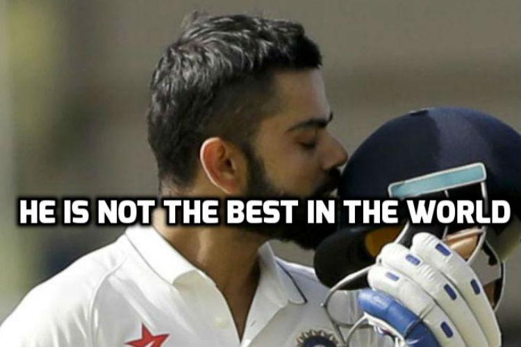 Numbers don't lie. Virat Kohli is not the best batsman in theworld