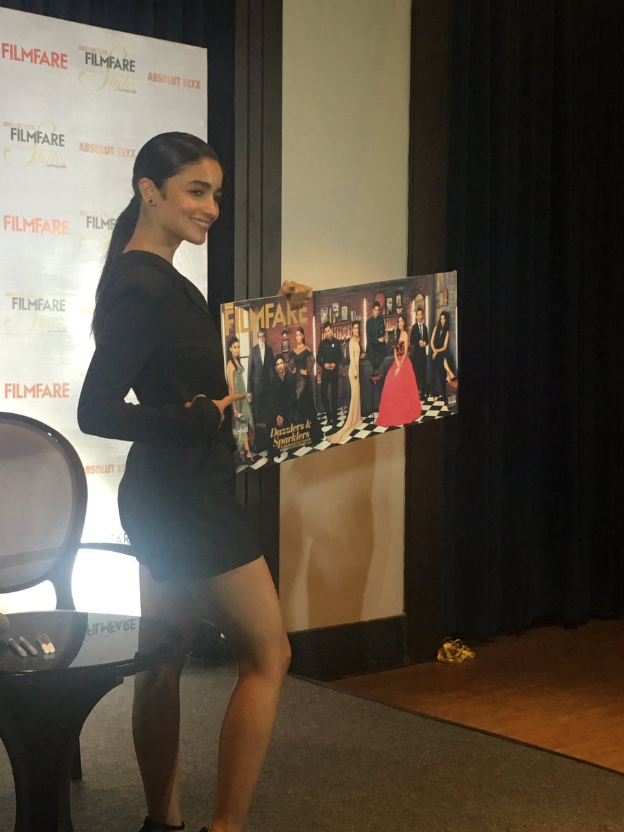 Alia Bhatt launches the special issue of the magazine. (Photo: Express)