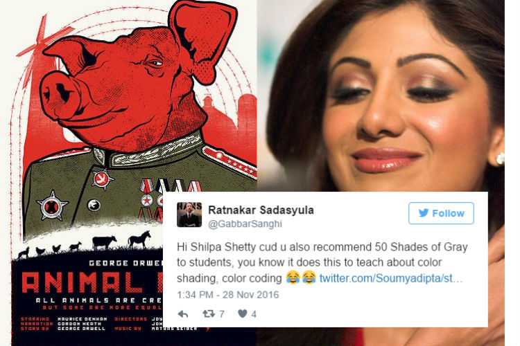 Shilpa Shetty trolled for saying Animal Farm teaches kids to love animals