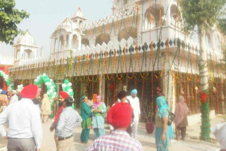 A view of the gurudwara where Yuvraj Singh and Hazel Keech got married. (Photo: Express/Nitin Sharma)
