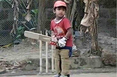 Dev Narayanan hits bowlers like Sachin Tendulkar. (Photo: YouTube/Rushabh Mehta)