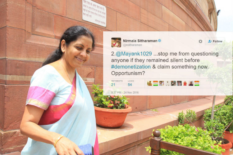 When Nirmala Sitharaman showed how to engage demonetisation critics instead of name-calling