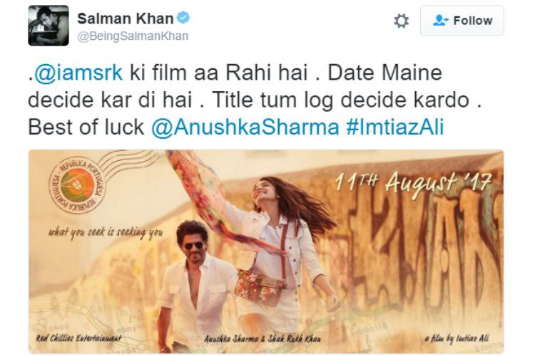 Shah Rukh Khan new movie
