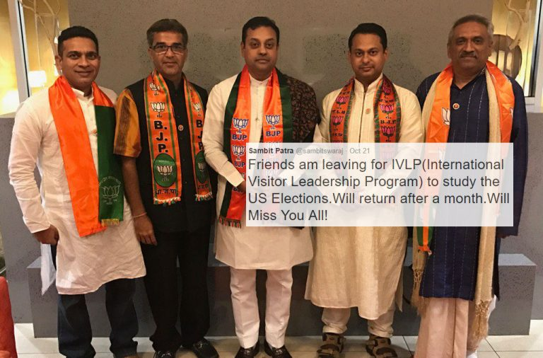 BJP's Sambit Patra is in the US to observe polls. Here's what he has learnt so far