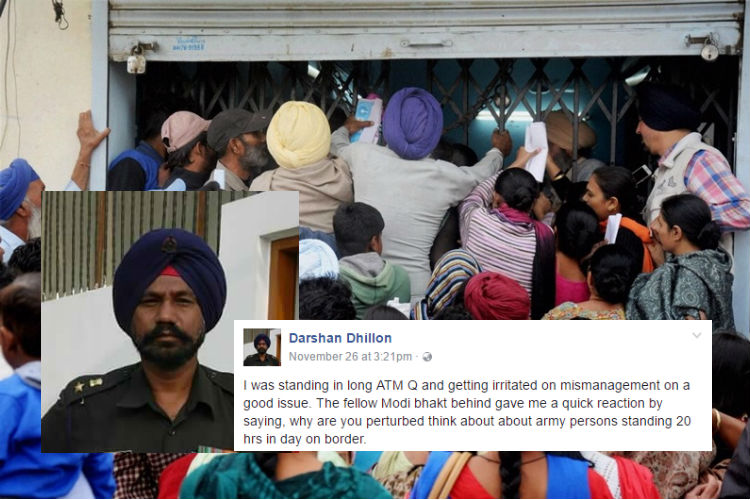 How a former jawan standing in bank queue shut up a demonetisation cheerleader