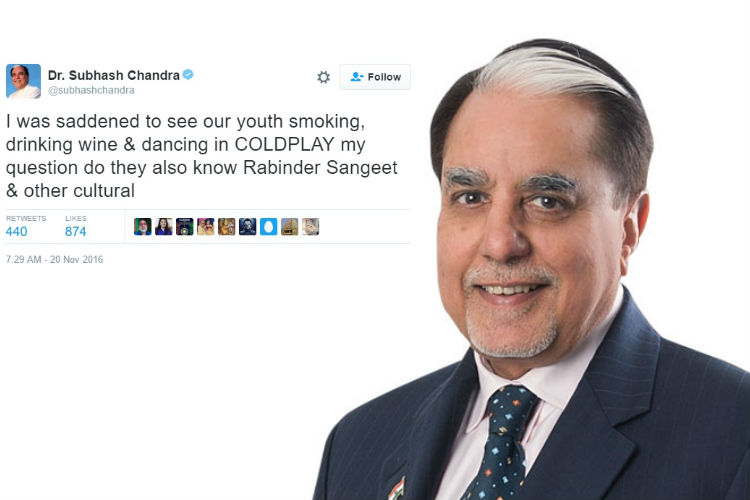 Subhash Chandra gives sanskar lessons to Tweeple, gets trolled in return