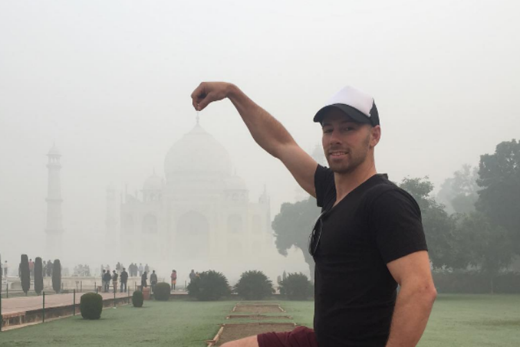 Taj Mahal has disappeared. This time it's not magic