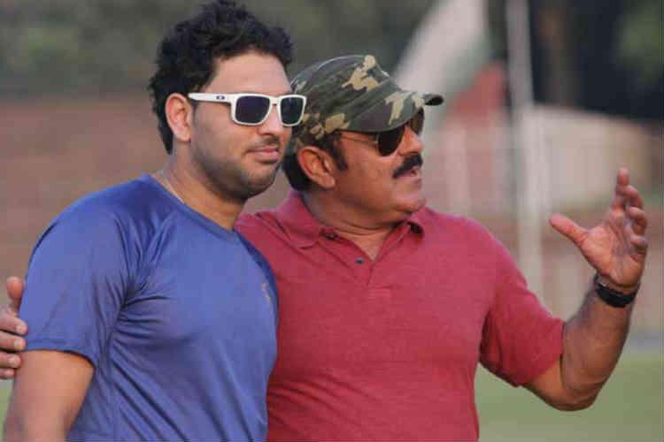 Yuvraj with his father Yograj Singh.