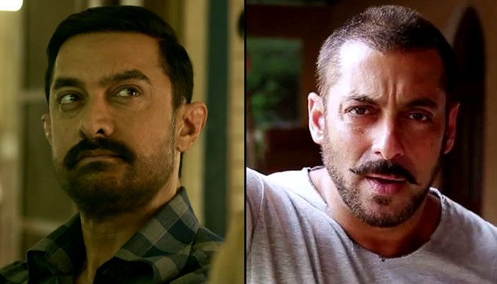 Aamir Khan in Dangal Salman Khan in Sultan film stills