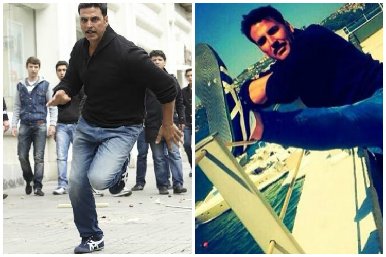 For god's sake Akshay change your shoes; they are utterly boring andrepetitive