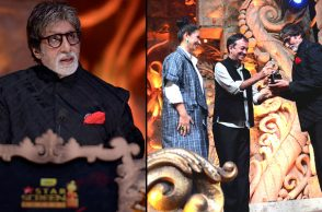 Amitabh Bachchan at Star Screen Awards  (Courtesy: Twitter/ SrBachchan)